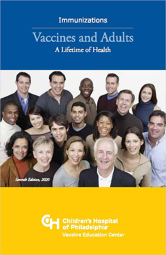Vaccines and Adults: A Lifetime of Health Booklet