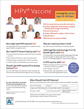 HPV Vaccines: A Guide for Young Adults