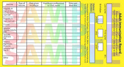 Printable Immunization Record Cards